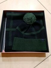 Jack Wills Mens Gents Wincanton Hat & Scarf Set Navy Mix Brand New in Box..