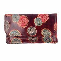 $68 Lucky Brand wristlet purse wallet Smoke Abbey Leather FL