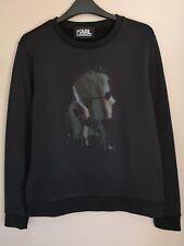 Karl Lagerfeld Ladies Black Drippy Head Sweatshirt Jumper Size XS