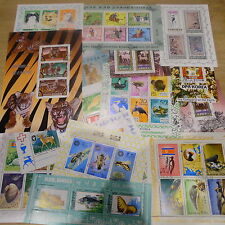 *** TIMBRES ANIMAUX :  5 BLOCS OBLITERES DIFFERENTS DE COREE ***