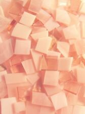 Peach Stained Glass Mosaic Scrap Pack, about 100 Hand Cut Pieces