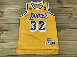 Adidas Swingman Los Angeles Lakers Magic Johnson #32 Jersey Youth L 14-16 Yellow