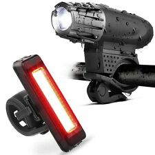 USB Rechargeable Battery LED 3w Headlight Bike Front Rear Tail Bar Torch Light