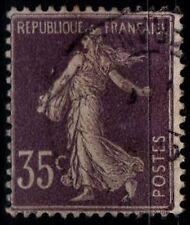 SEMEUSE CAMÉE 35c violet, Oblitéré = Cote 15 € / Lot Timbre France 136
