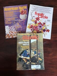 Vintage Magazines- August 1972 -American Home, Family Circle, Atlantic