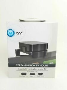 ONN Streaming Box TV Mount  Compatible With New Apple TV, Apple TV, ROKU 1/2/3