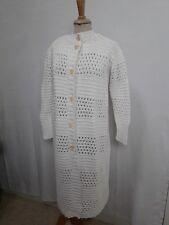 VESTE MANTEAU FEMME coton tricoté T.36/38 VINTAGE 70 WOMAN KNITTED COAT SIZ XS/S