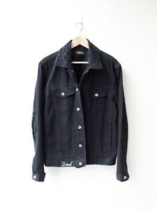 Black DIESEL Distressed Denim Jacket - Size S