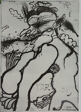 Arnulf Rainer /große Lithographie/50 Exe./Der Fliegenesser/1966/handsigniert