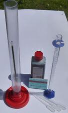 Feinst-Acidometer-Alkoholometer-Mostwaage-Komplett Set-Chenard-Gesamtsäure- Most