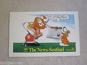 UT Vols Tennessee Football 1995 News Sentinel DANIEL Cartoon Art Poster Print