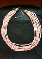 Jay King DTR mine find sterling pink  coral 8 strands necklace