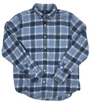 23Vineyard Vines Mens Blue Plaid Long Sleeve Slim Fit Tucker Shirt Size Large
