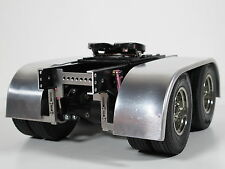 Pair Aluminum Dual Rear Fender with Frame Mount for Tamiya 1/14 Semi King Hauler
