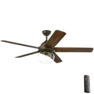 NEW!! HOME DECORATORS Avonbrook 56 in. LED Bronze Ceiling Fan with Light Kit