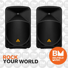 2 x Behringer EUROLIVE B115D Active PA Speaker 2-Way 1000W 15'' Inch Pair