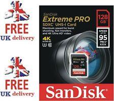 SanDisk 128 GB 95MB/s Extreme Pro SDXC Memory Card UHS-I V30 SD U3 633x 4K UHD