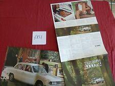 N°4851 / TRIUMPH : catalogue berline et break  2000 MK 2   english text   1969