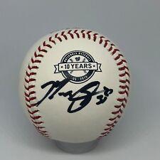 Max Scherzer signed Rawlings Nationals 10 Year Logo baseball JSA Cy Young A159