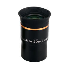 "1.25"" 15mm Eyepiece 66° Ultra Wide Angle Fully Multi-Coated for Telescope CO"