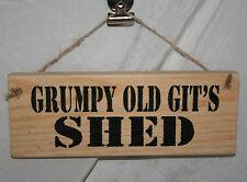 GRUMPY OLD GIT'S SHED Adult Hanging Door Den Sign Plaque Home Office Garage Cave
