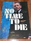 No+Time+To+Die+Movie+Poster+CAST+SIGNED+Premiere+Daniel+Craig+James+Bond+007+COA