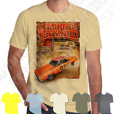 Dukes of Hazzard General Lee Chase T-shirt 100% Cotton 7 colours to choose