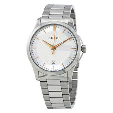 Gucci G-Timeless Silver Dial Stainless Steel Unisex Watch YA126442