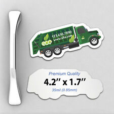 1000 Custom 35mil Thick Trash Truck Shaped Fridge Magnets with Your Design/Logo