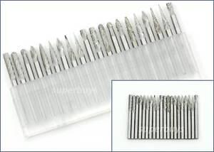 20pc Abrasive Tungsten Carbide Bur Dremel Rotary Die Grinding Drill Bit Tool