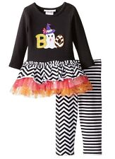 Bonnie Jean Baby Halloween Ghost Tutu Holiday Outfit Set Size 12 M Months NWT
