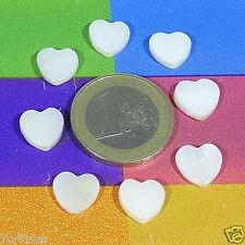 41 Abalorios Corazones Nacar 10mm T272C Perline Perles Pendentifs Nacre Beads