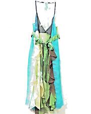 BCBG Maxazria Silk Halter Cocktail Dress 10 with Ruffles