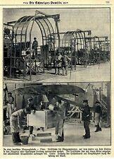 Prüfstände einer deutschen Flugzeugfabrik Flugmotoren Historische Aufnahmen 1918