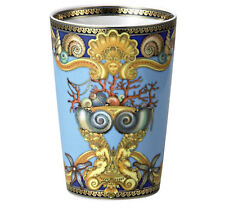 "VERSACE LA MER CUP VASE BATH multipurpose Rosenthal NEW LUXURY GIFT IDEA 4"" tall"