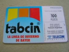 Argentina used chipcard  Medical card Tabcin , Bayer