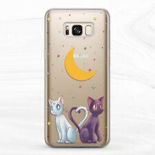 For Samsung S8 S9 S10 S20 Plus S10e Note 9 10 Sailor Moon Luna Artemis Cat Case