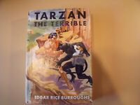 TARZAN THE TERRIBLE by Edgar Rice Burroughs with dust cover