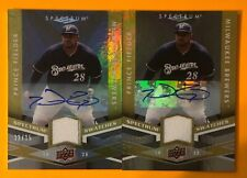 PRINCE FIELDER 2009 SPECTRUM SWATCHES AUTOGRAPHED SIGNED AUTO 2 CARD LOT SP #/35