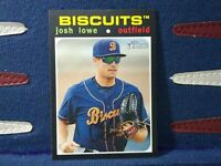 Josh Lowe 2020 Topps Heritage Minor League #168 Montgomery Bicuts