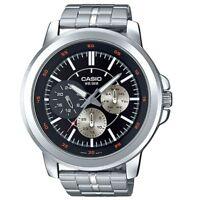Casio MTP-X300D-1E Men's Black Dial Modern Stainless Steel Watch 50M