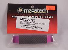 Megatech # 22780 ~ Graphite & Purple Aluminum 5Deg Spoiler Wing For Micro RS4