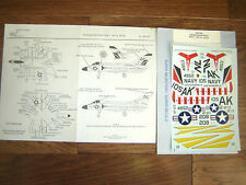 "F4D-1 SKYRAY ""2 USN/VF-13/23/USS SHANGRI-LA"" MICROSCALE DECALS 1/48"