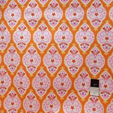 Dena Designs LIDF004 Sunshine Medallion Orange Linen Fabric By Yard
