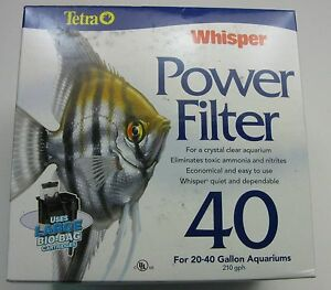 Tetra Aquarium Whisper 40 Power Filter for 20-40 Gallon Aquariums