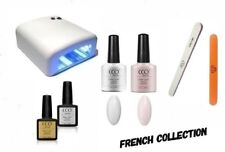 CCO UV/Led Nail Gel polacco Starter Kit. French Manicure Collection. 36 W LAMPADA UV