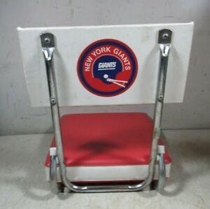 Vintage 1970's/80's NY Football Giants Portable Stadium Seat Cushion Chair