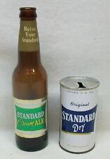 "2 Vintage ""Standard Beer"" Items: 1965 Cream Ale Bottle & ""Dry"" Steel Can w/Pull"