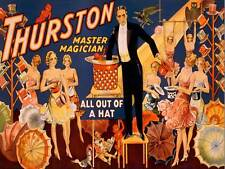THEATRE VAUDEVILLE THURSTON ILLUSION MAGIC USA VINTAGE ADVERTISING POSTER 2224PY