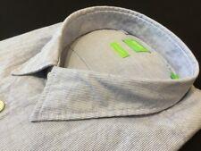 "Hugo Boss Green Label 2xl Chest Measures 49"" Blue C-bacchis Reg Fit Shirt"